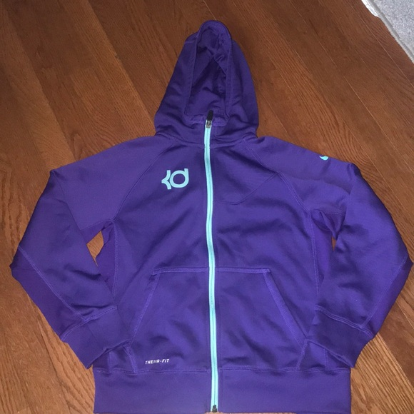 big sale f0f2f 482be Kevin Durant Nike zip up hoodie jacket youth large